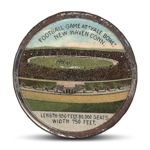 Rare 1914 Yale Bowl Opening Celluloid Pinback
