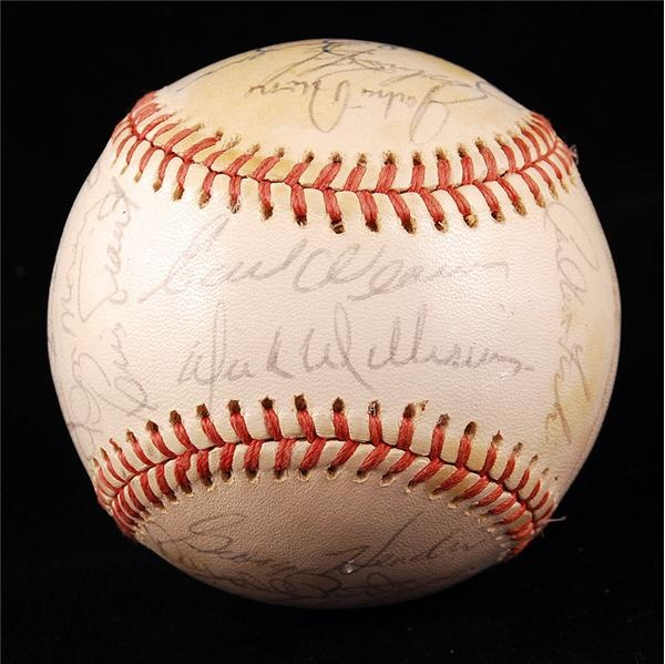 1974 American League All-Star Team Signed Baseball