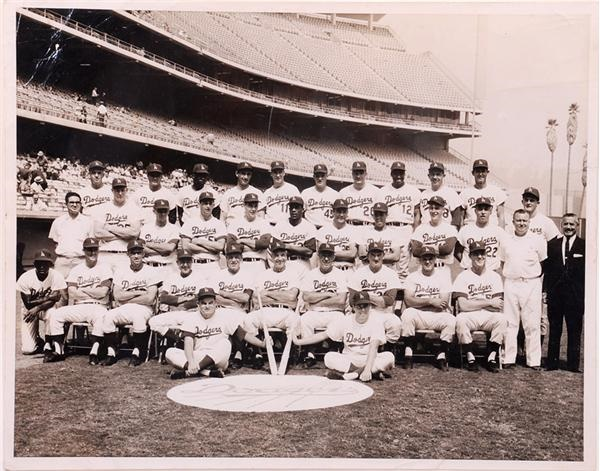1963 Los Angeles Dodgers Championship Team Oversized Photo