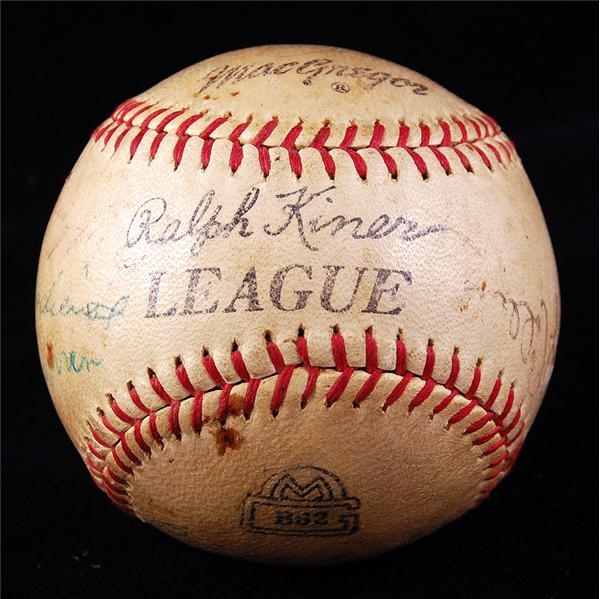 Hall of Famers and Stars Signed Baseball w/ Rip Collins