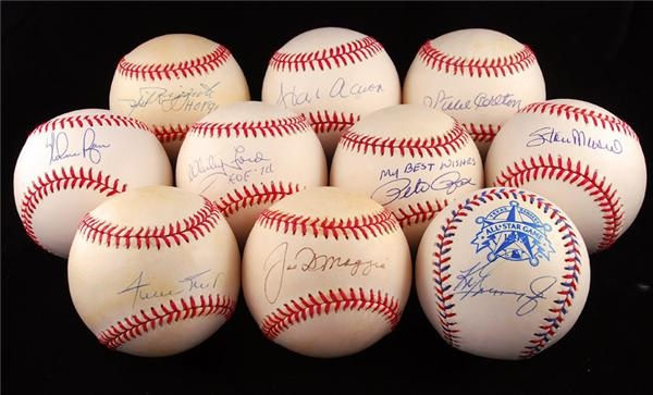 Collection of Hall of Fame Signed Signed Baseballs (10)