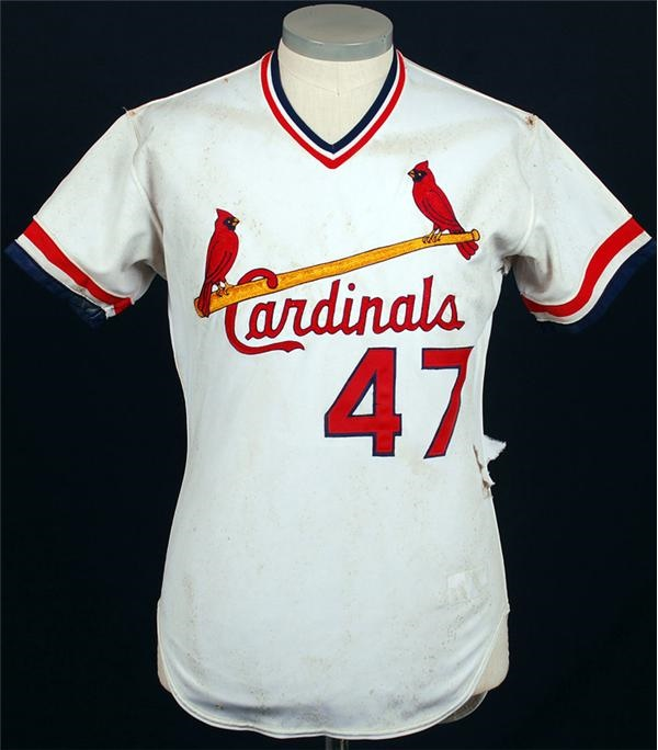 1985 Joaquin Andujar Cardinals Game Used Jersey Worn in World Series