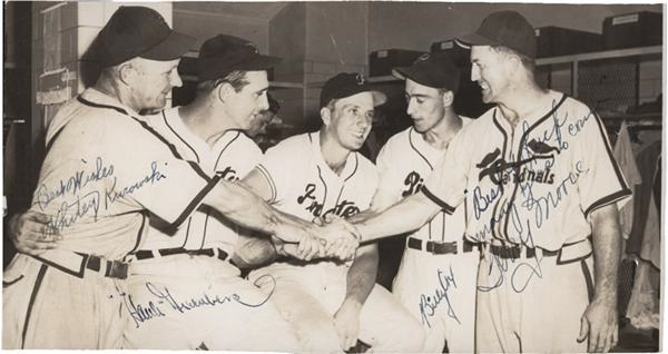 Hank Greenberg and Other Stars Signed Photograph JSA