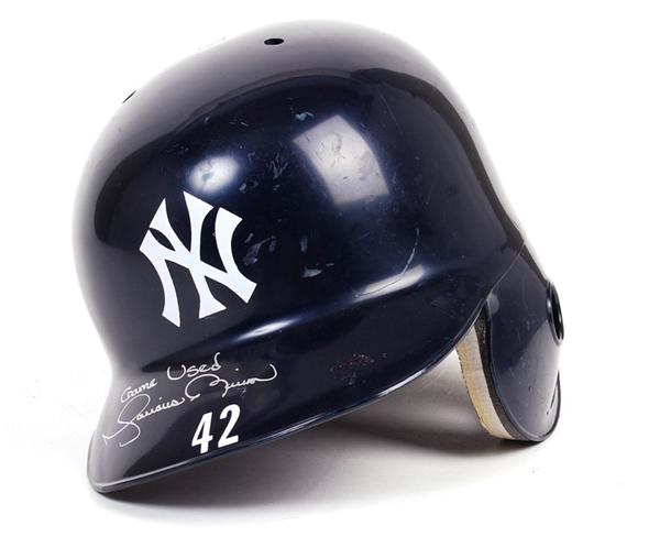 Mariano Rivera Yankees Game Used Batting Helmet Steiner