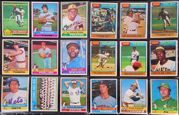 1976 Baseball Card Complete Set (660 Cards)