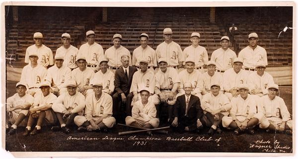 1931 Philadelphia Athletics Panoramic Team Photo