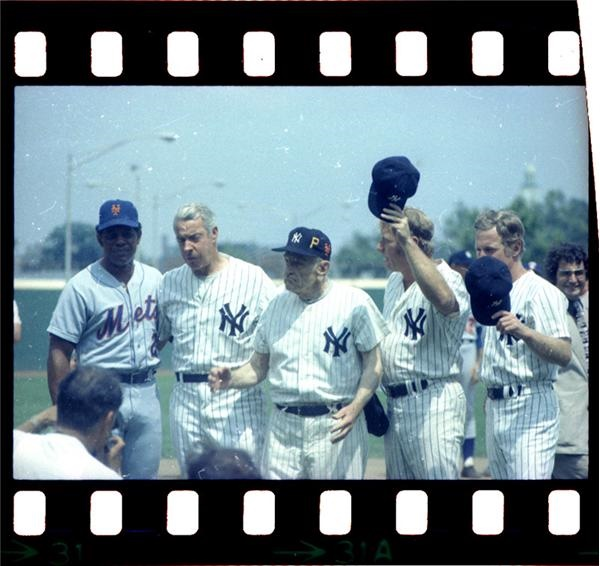 Mantle, DiMaggio, Mays, Ford and Stengel Negative