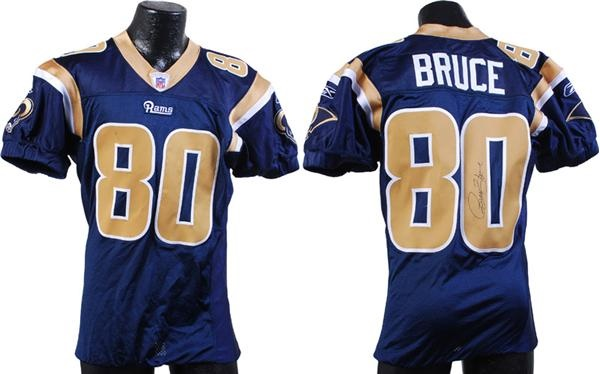 watch b66d9 3c488 2007 Isaac Bruce Signed Game Worn St. Louis Rams Jersey
