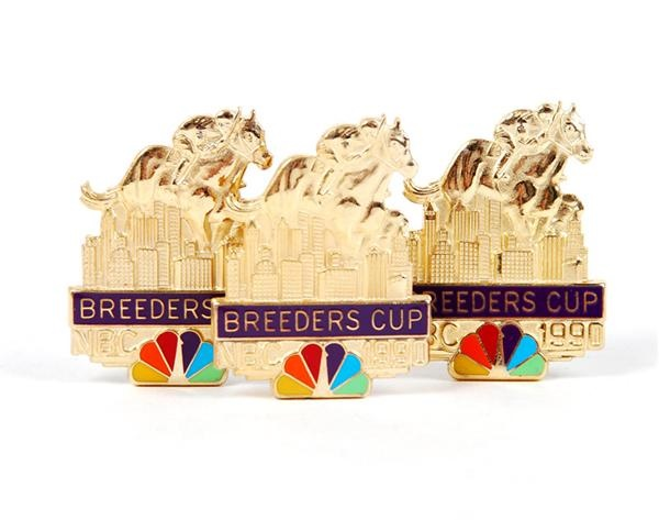 Large Collection of 1990 Breeders Cup NBS Press Pins (22)