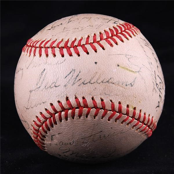1946 Boston Red Sox AL Champions Team Signed Baseball PSA/DNA