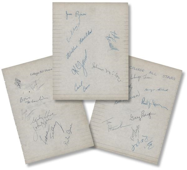 1954-55 College All-Stars Signed Sheet with 25 Signatures