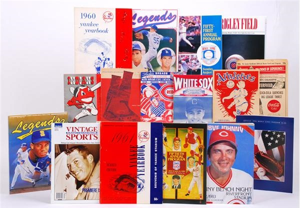 Baseball Publication Collection with Yearbooks and Programs (110)