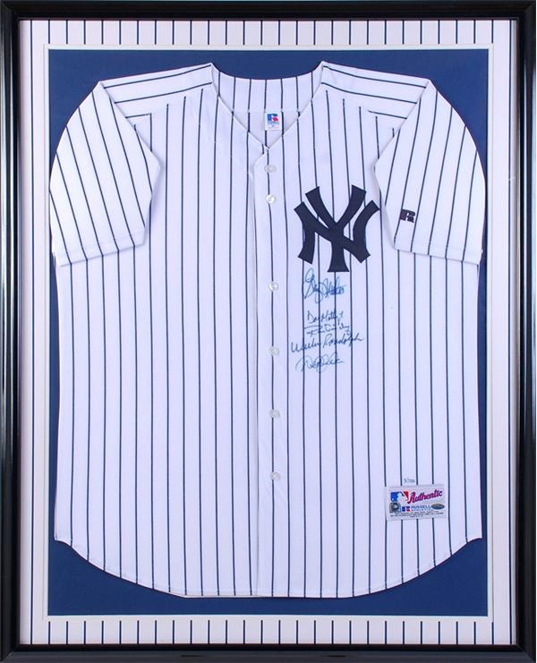 NY Yankees Living Captains Signed Jersey