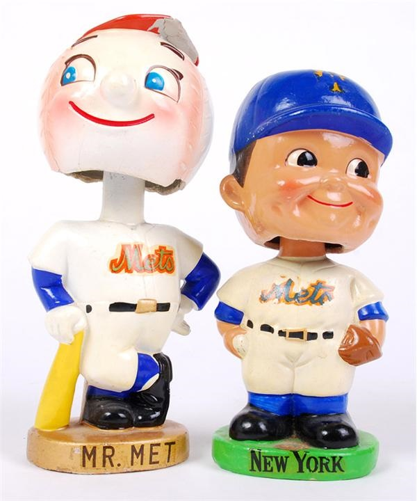 1960's New York Mets Bobbin Head Dolls (2)