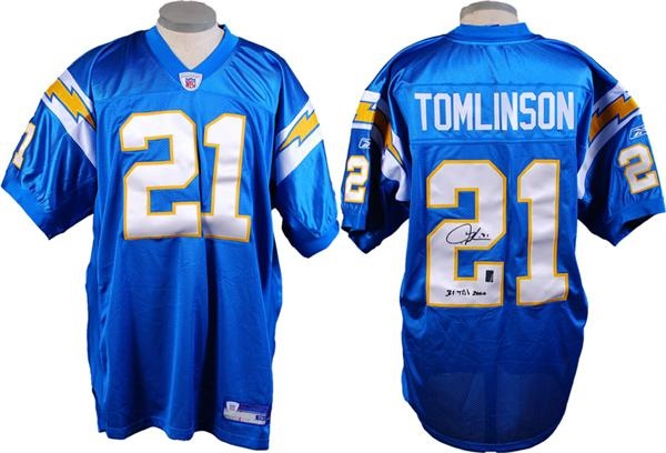 Ladainian Tomlinson Signed San Diego Chargers Jersey