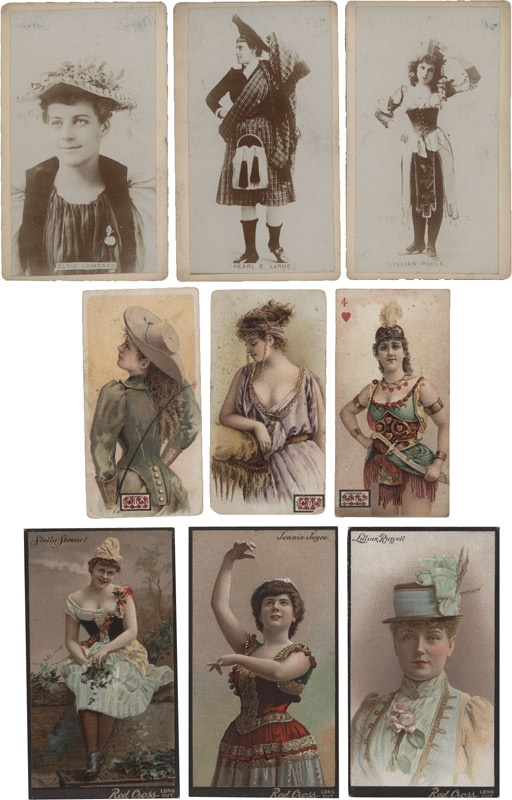 Collection of Scarce 19th Century Actress Tobacco Cards (46)