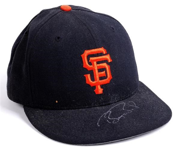 Barry Bonds SF Giants Game Used Hat