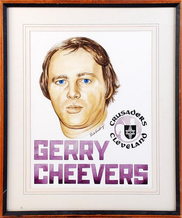Gerry Cheevers Framed Artwork (2)