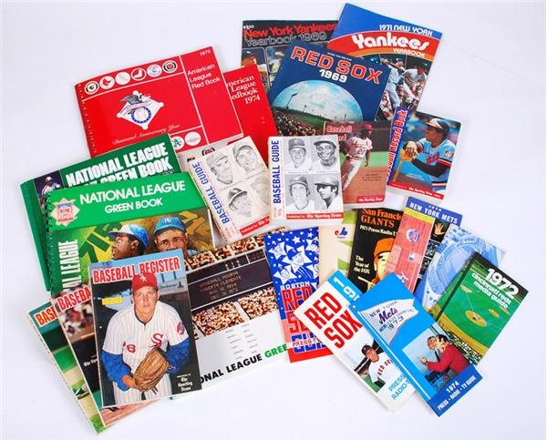 (80+) 1960-80s Baseball Media Guides, Yearbooks, Records Books & More
