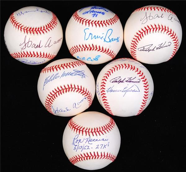 Hall of Famer and Star Multi and Single Signed Baseball Collection (6)
