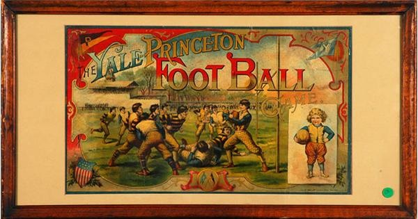 Colorful 1895 Yale - Princeton Football Board Game Cover