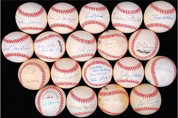 Single Signed Baseball Collection with Several Deceased Tough Players (19)