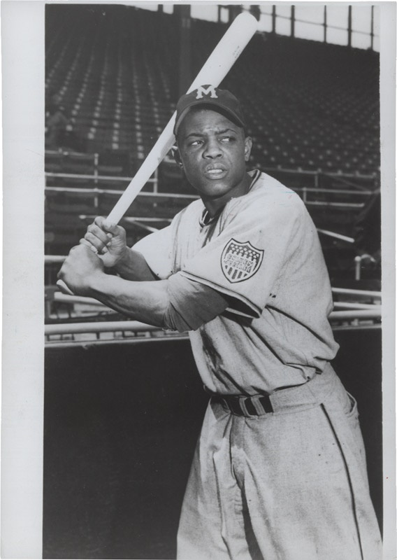 Willie Mays with the Minneapolis Millers (1950's)