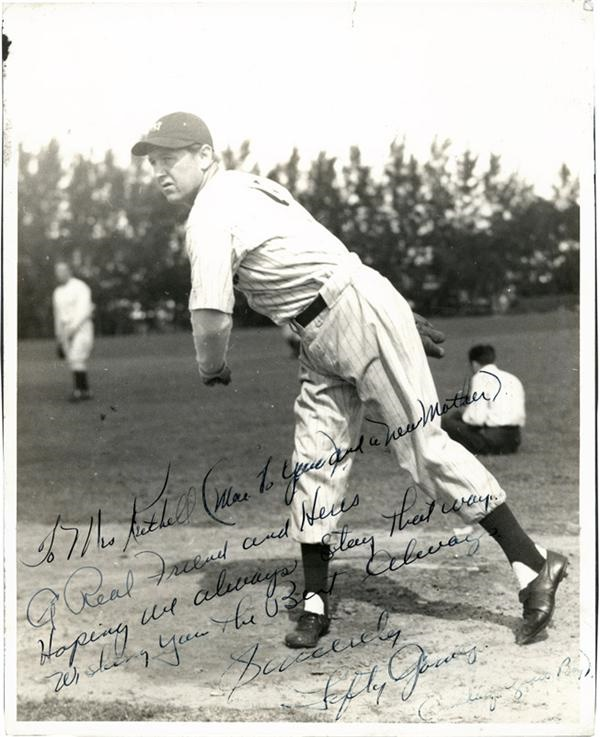 Lefty Gomez Vintage Signed Yankees Photo with inscription