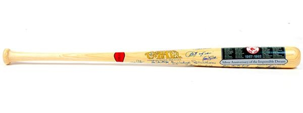 1967 Boston Red Sox Signed Cooperstown Bat Co Decal Bat with (27) Signatures