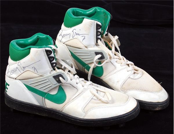 Boomer Esiason Game Used Signed New York Jets Spikes