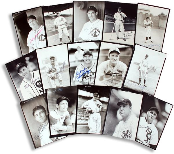 Collection of Signed Burke Photos with Hall of Famers (15)