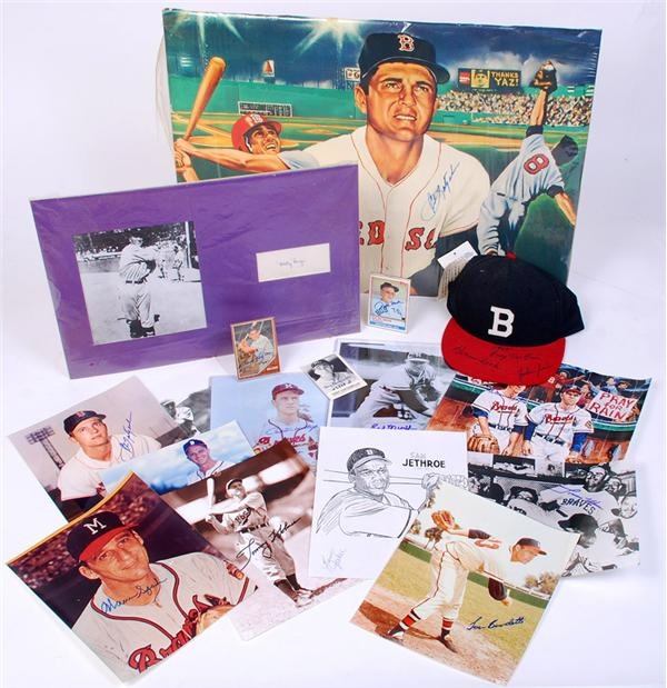 Boston Red Sox and Boston Braves Autograph Collection (33)