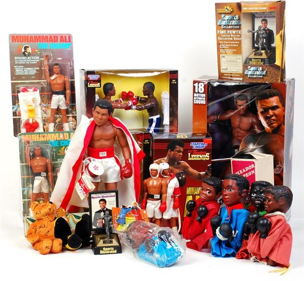 Large Collection of Muhammad Ali (one signed) Dolls (18)