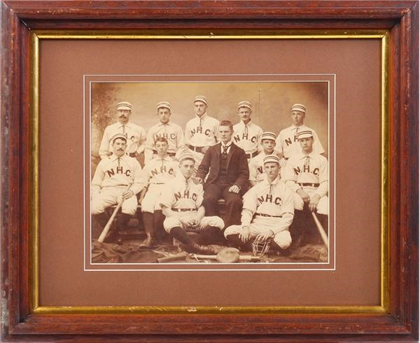 High Quality 1880's New Hampshire College Baseball Team Cabinet Photo