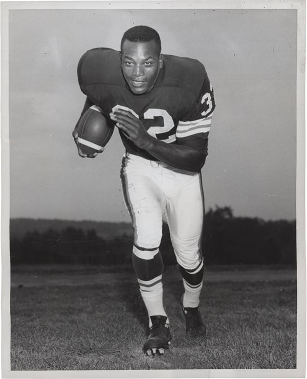 Jim Brown Cleveland Browns Promo Photos w/ 1958 Rookie SFX Archives (5)