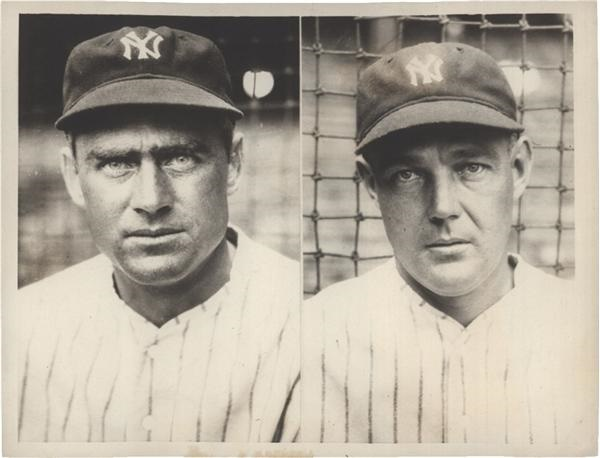 Earle Combs and George Pipgras of Yankees SFX Archives (1932)