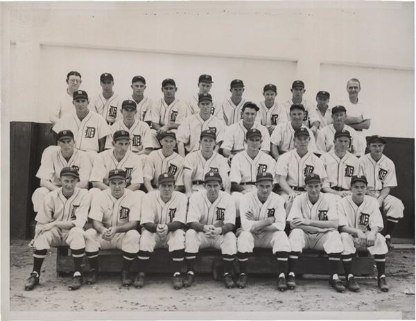 1937 Detroit Tigers Team Photo from SFX Archives