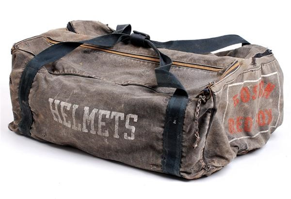 1950s Boston Red Sox Game Used Canvas Equipment Bag