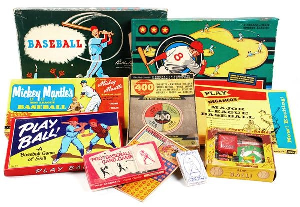 Sports Board Game Collection with Mickey Mantle Big League Baseball (10)