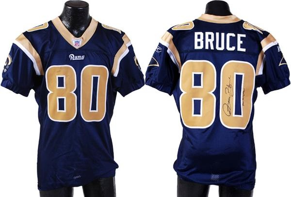 2007 Issac Bruce Game Worn 900th Career Reception Jersey