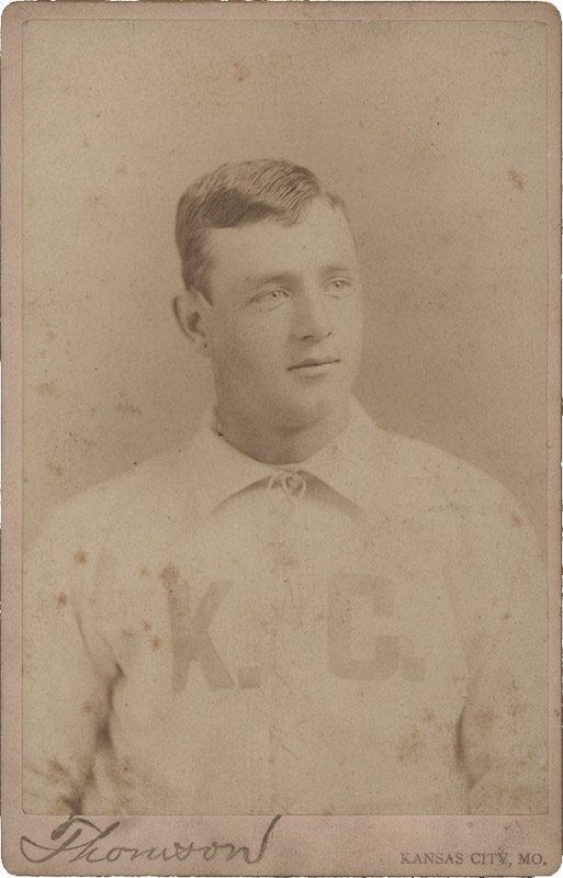 1880's Kansas City Professional Baseball Player Cabinet Card