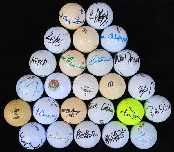 Signed and Unsigned Golf Ball Collection (28)
