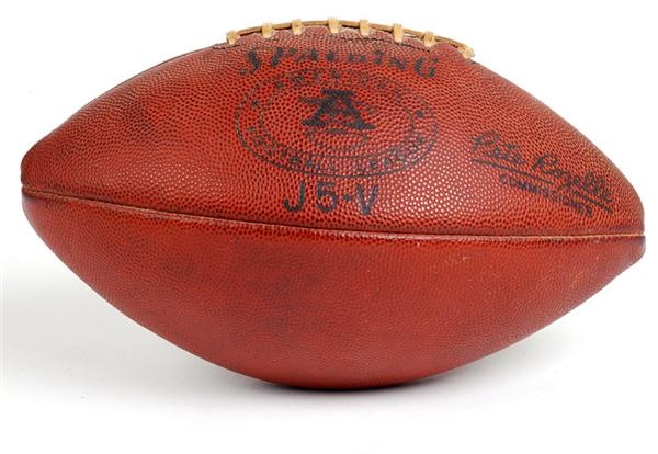 1960s AFL Pete Rozelle Game Used Football