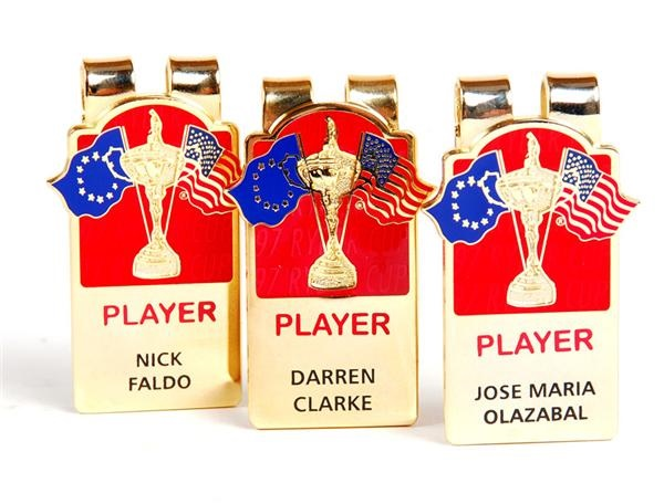 1997 Ryder Cup Golf Player Money Clips (3)