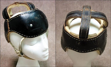 1930's Leather Hockey Helmet