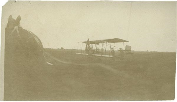 Vintage Aviation Photo Horse Drawn Plane Circa. 1900's