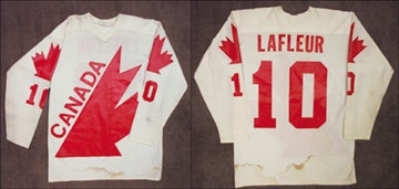 1976 Guy Lafleur Canada Game Worn Jersey