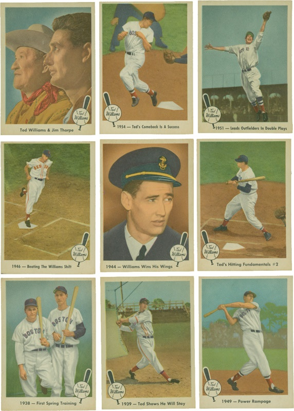 1959 Fleer Ted Williams Baseball Cards (30)