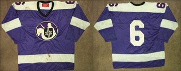 1975-76 Barry Legge WHA Cleveland Crusaders Game Worn Jersey