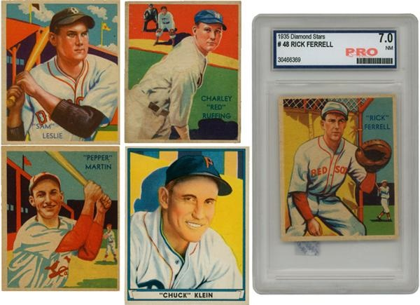 (5) 1934-41 Hall of Famers & Stars Diamond Stars & Playball Cards